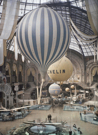 Architecture & Balloons - Le Grand Palais 1909 Airshow, by Leon Gimpel